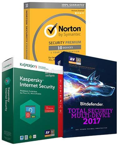 Genuine BitDefender, Kaspersky & Norton 2018 Antivirus Software