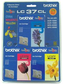 GENUINE BROTHER LC-37 COLOR VALUE PACK INK CARTRIDGE **NEW**SEALED BOX