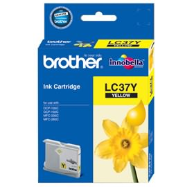 GENUINE BROTHER LC-37 YELLOW INK CARTRIDGE **NEW**SEALED BOX