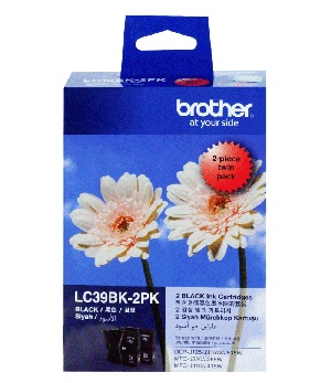 GENUINE BROTHER LC-39 TWIN BLACK INK CARTRIDGE **NEW**SEALED BOX