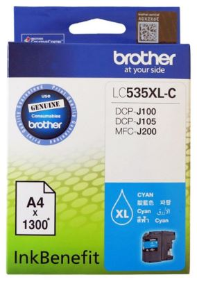 GENUINE BROTHER LC-535XL CYAN INK CARTRIDGE **NEW**SEALED BOX