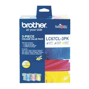 GENUINE BROTHER LC-67 COLOR VALUE INK CARTRIDGE **NEW**SEALED BOX
