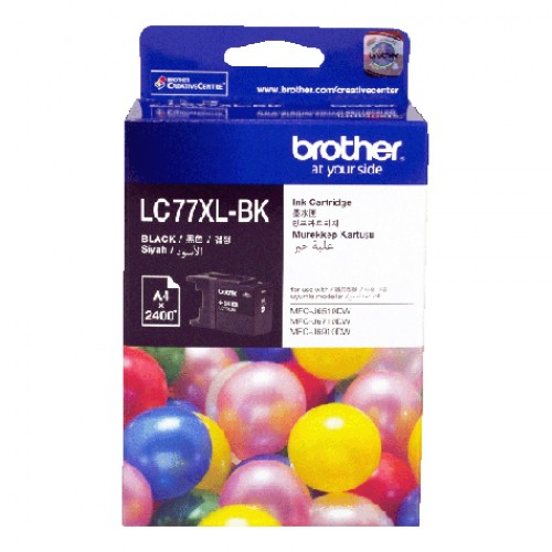 GENUINE BROTHER LC-77XL BLACK INK CARTRIDGE **NEW**SEALED BOX