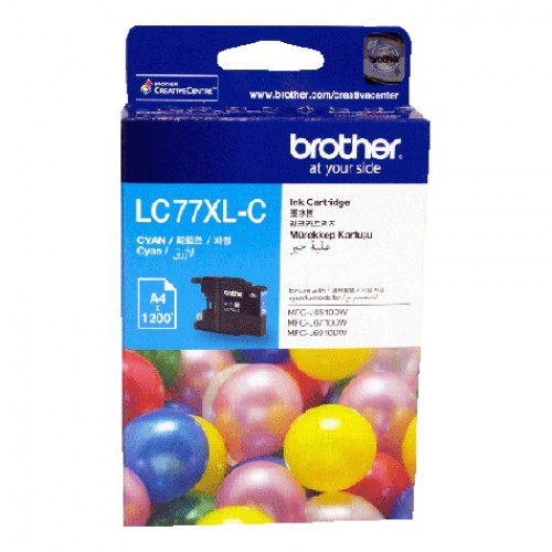 GENUINE BROTHER LC-77XL CYAN INK CARTRIDGE **NEW**SEALED BOX