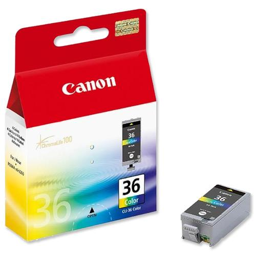 GENUINE CANON CLI-36 COLOR INK CARTRIDGE FOR IP100 **NEW**SEALED BOX