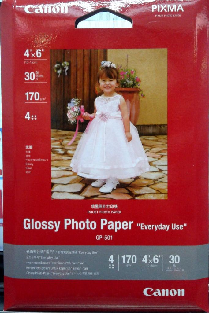 GENUINE CANON GP-501 4R GLOSSY PHOTO PAPER (30SHEETS)