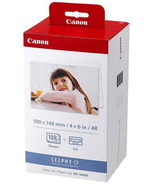 GENUINE CANON KP-108IN SELPHY CP INK & PAPER (108 SHEETS) RETAIL