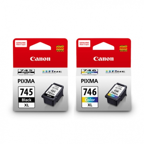 GENUINE CANON PG-745XL BLACK + CL-746XL COLOR INK CARTRIDGE **NEW**