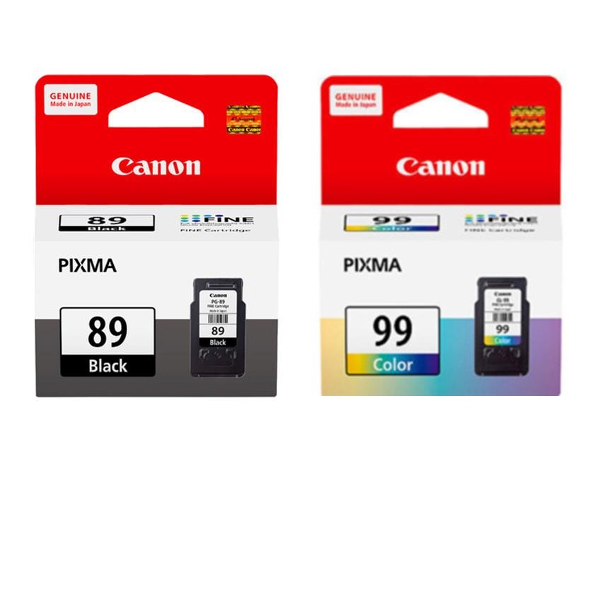 GENUINE CANON PG-89 BLACK + CL-99 COLOR INK CARTRIDGE **NEW**SEALED BO