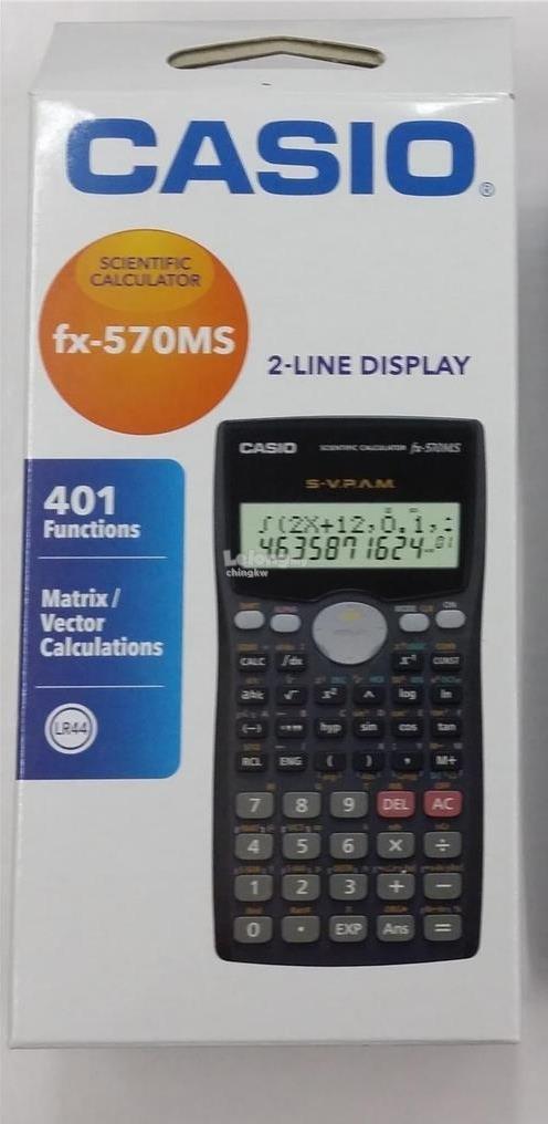 Genuine Casio Fx 570ms Standard Sci End 1012018 1200 Am