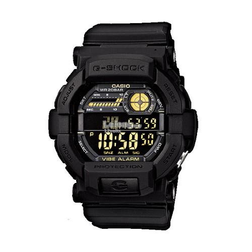 Genuine Casio G-Shock GD-350-1BDR Digital Sports Watch Matte Black
