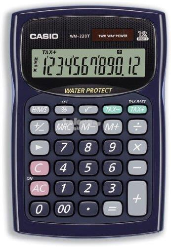 Genuine Casio WM-220T Water Protected & Dust-Proof Calculator