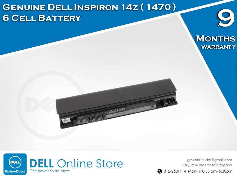 Genuine Dell Inspiron 14z ( 1470 ) 6 Cell Battery