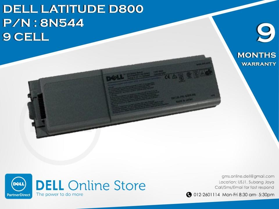 Genuine Dell Latitude D800 9 Cell Battery
