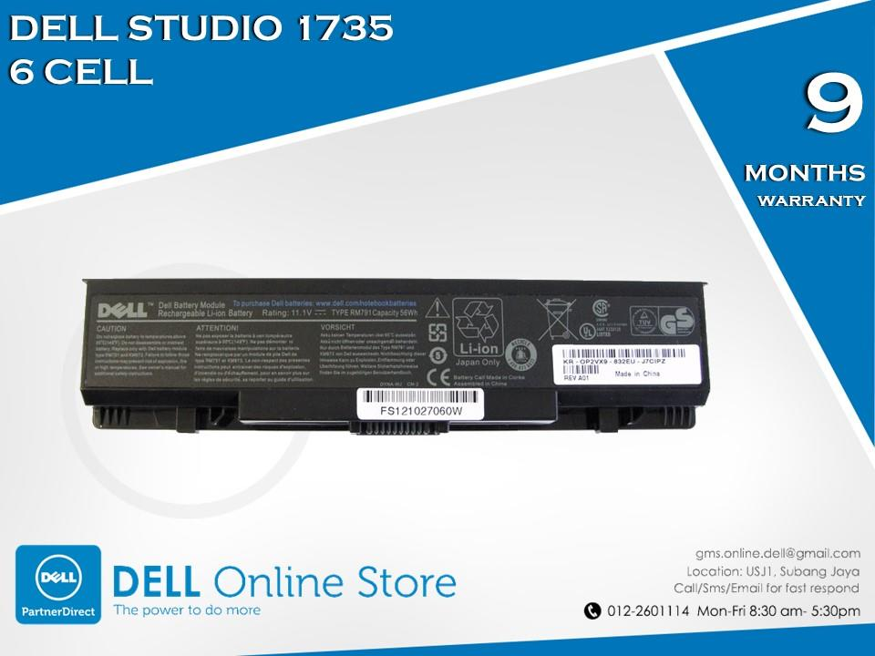 Genuine Dell Studio 1735 6 Cell Battery