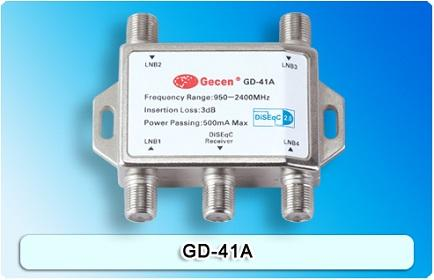 Genuine Gecen 4x1 DiSEqC Switch GD-41A for Satellite Receiver
