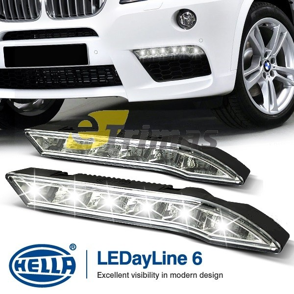 Genuine HELLA LEDayline 6 Daytime Running Lights 12V DRL LED Complete Kit