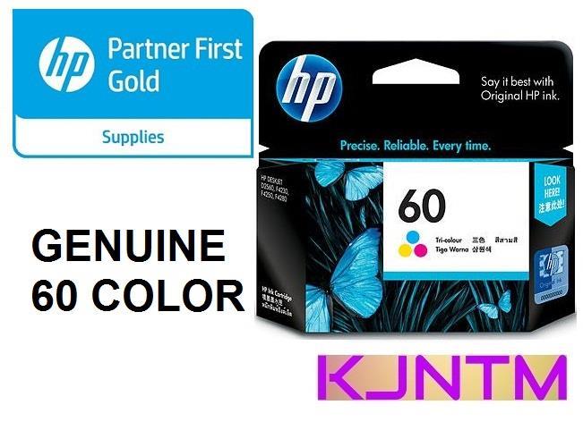 GENUINE HP 60 COLOR (CC643WA) INK CATRIDGE