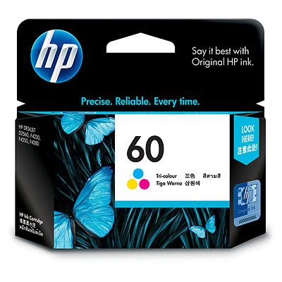 GENUINE HP 60 COLOR INK CARTRIDGE (CC643WA) **NEW**SEALED BOX
