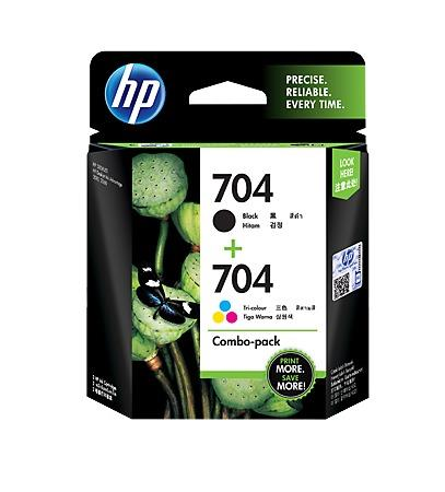 GENUINE HP 704 BLACK + COLOR COMBO INK CARTRIDGE (F6V33AA) **NEW**