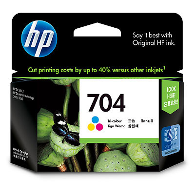 GENUINE HP 704 COLOR INK CARTRIDGE (CN693AA) **NEW**SEALED BOX