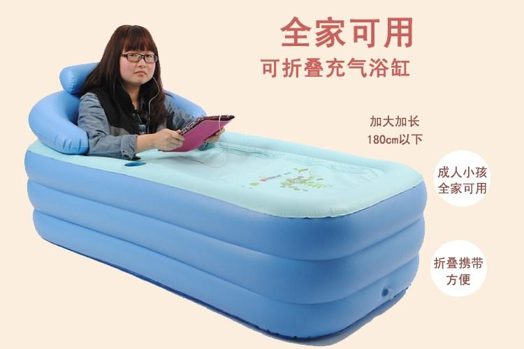 Genuine Intime Thick Plastic Bath Tub Adult Jacuzzi Warm Bed Portable