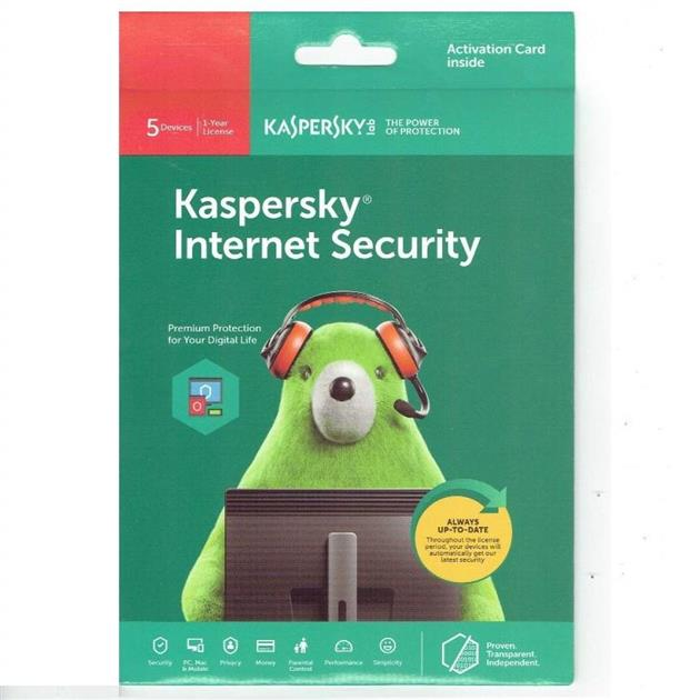 GENUINE KASPERSKY INTERNET SECURITY 2019 (1 YEAR 5 DEVICE USER) CD-KEY