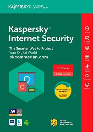 GENUINE KASPERSKY INTERNET SECURITY 2020 (1 YEAR 1 USER) CD KEY ONLY
