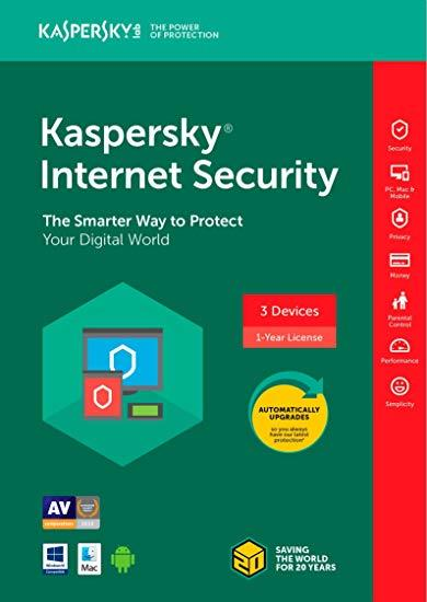 GENUINE KASPERSKY INTERNET SECURITY 2020 (1 YEAR 3 DEVICE USER) RETAIL