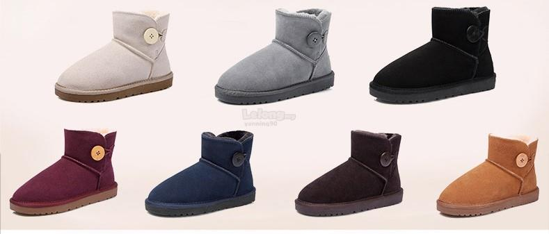 Genuine Leather Anti-Skid Thick Bottom Winter Shoes