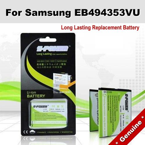 Genuine Long Lasting Battery Samsung Wave 723 EB494353VU Battery