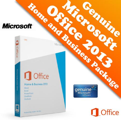 Genuine Microsoft Office 2013 Home and Business Retail Package
