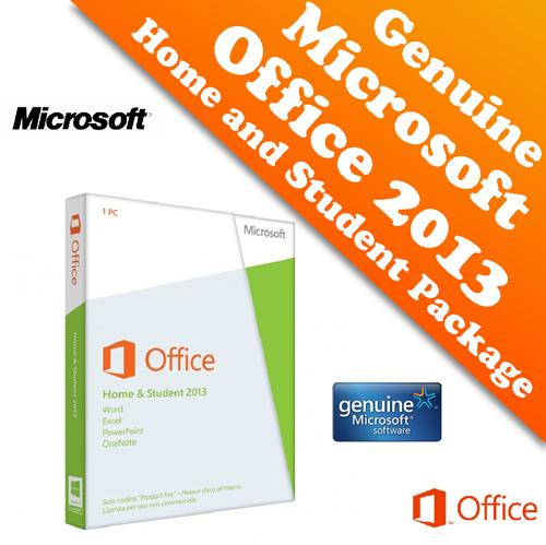 genuine microsoft office 2013 home & (end 4/29/2018 5:15 pm)