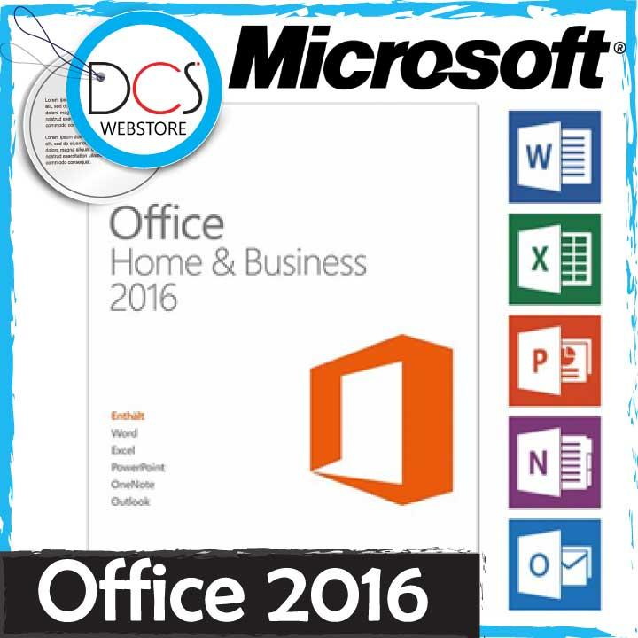 microsoft office home & business 2016 dvd