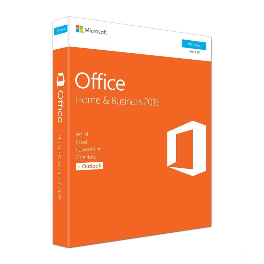 GENUINE MICROSOFT OFFICE HOME AND BUSINESS 2016 RETAIL (T5D-02695)