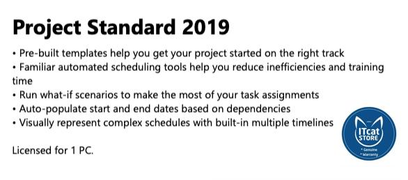 GENUINE AND NEW MICROSOFT PROJECT STANDARD 2019 (076-05785)