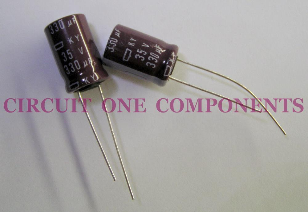 Genuine NIPPON CHEMICON Japan 330uF 35v Electrolytic Capacitor - Each