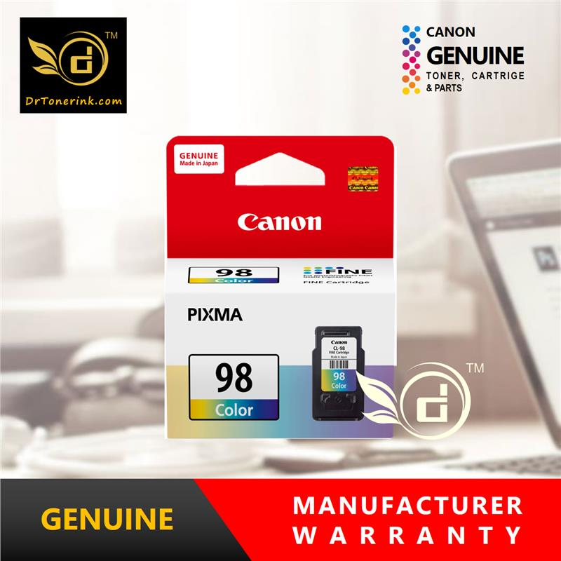 Genuine Original Color Ink Canon CL98 CL-98 (15ML)