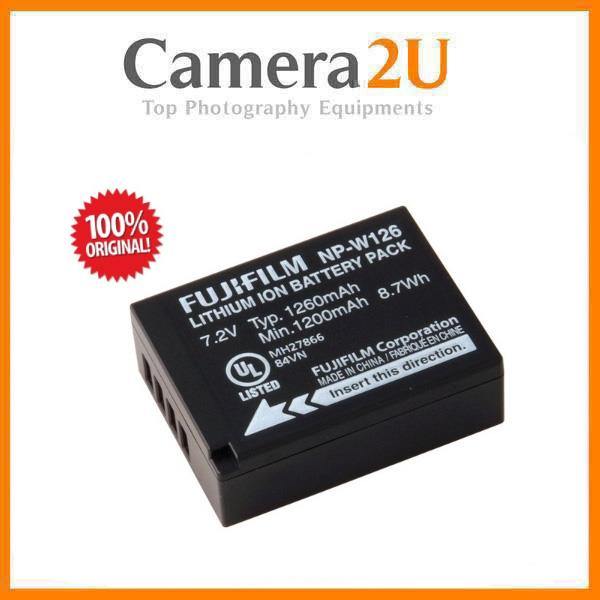 Genuine Original Fujifilm NP-W126 For X-A2 X-E2 X-T10 X-T1 X-A3 X-A10