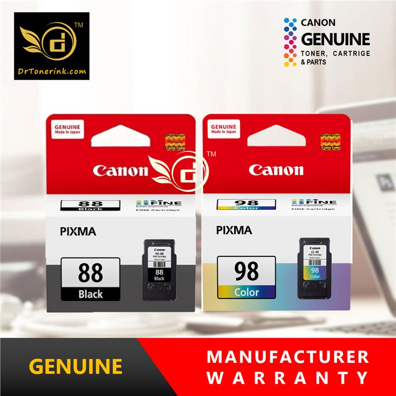 Genuine Original Ink Canon PG-88 (21ML) & CL-98 (15ML) - COMBO