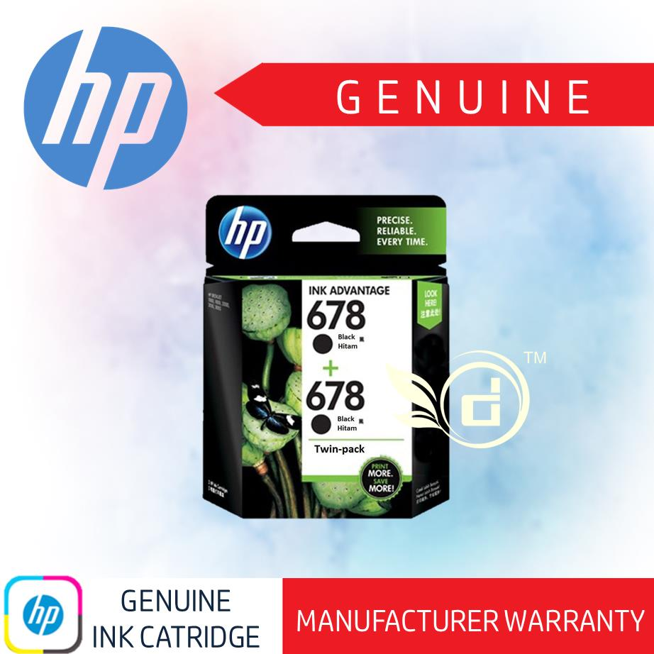 Genuine Original Ink - HP 678 / HP678 Twin Pack (Black) Ink Cartridge