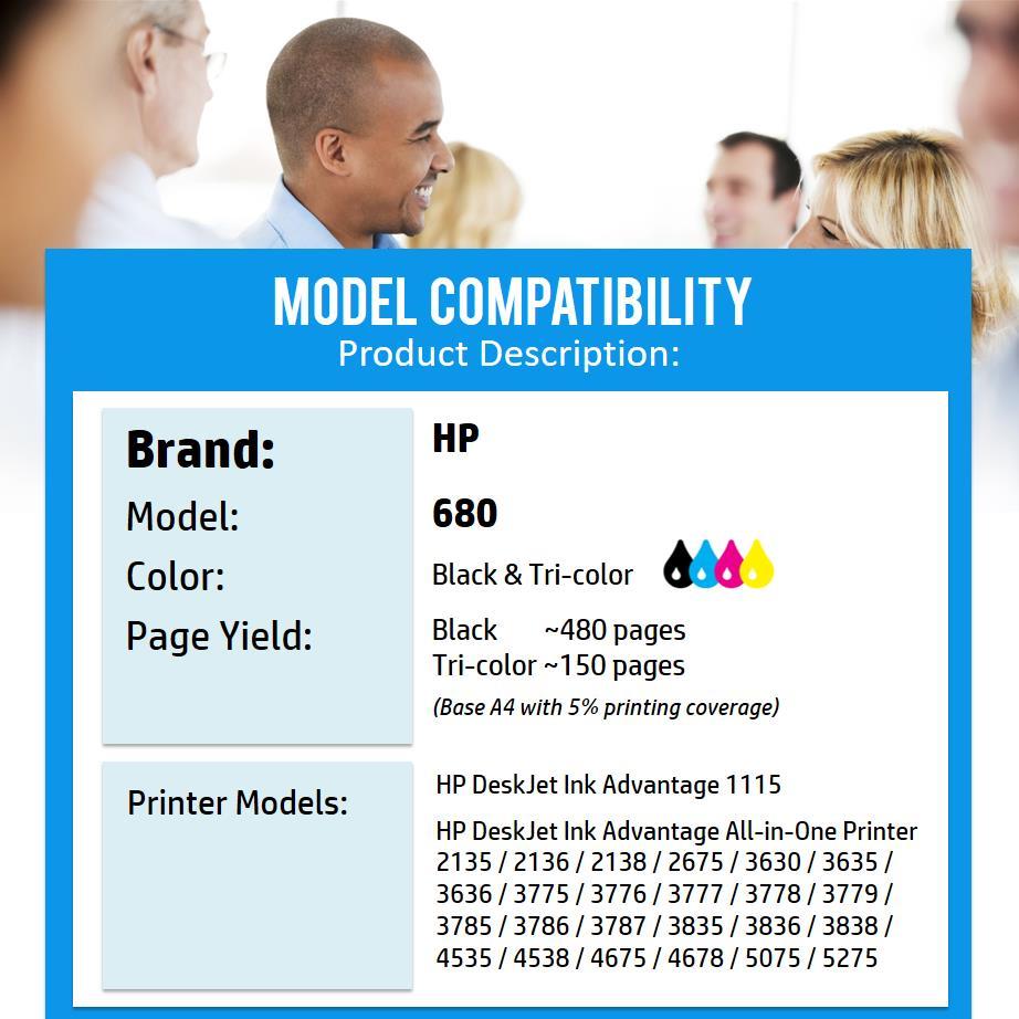 Genuine Original Ink Hp 680 Combo B End 1 30 2019 915 Am Tri Color Advantage Cartridge Black By Drtoner