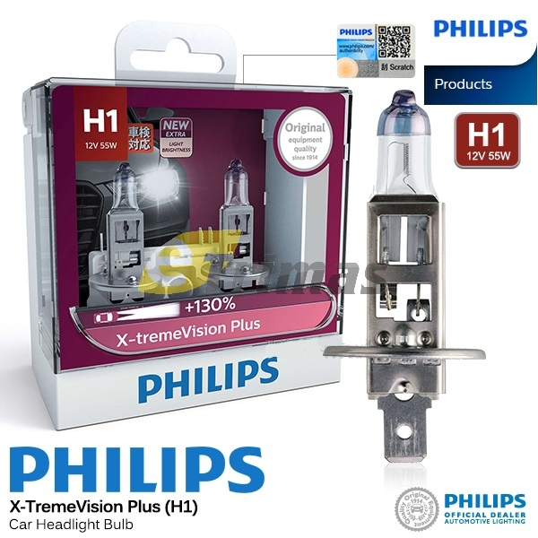 Underbar GENUINE Philips H1 X-treme Vision P (end 9/14/2021 12:00 AM) NG-52