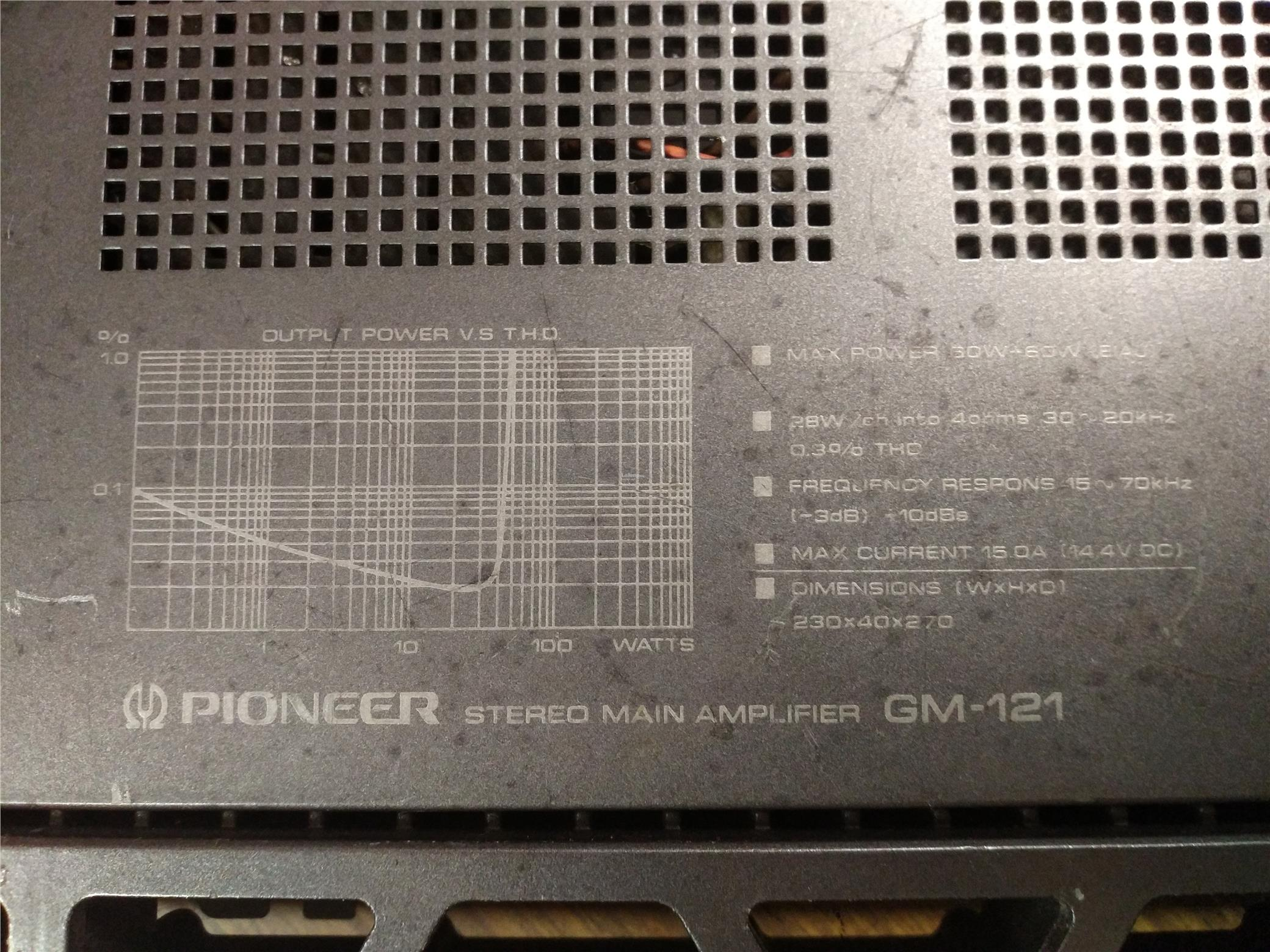 Genuine Pioneer 60W+60W Power Amplifier