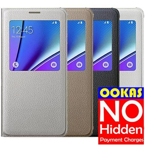 brand new fd0e8 5e87a Genuine Samsung Galaxy NOTE5 S-View Flip Cover Original NOTE 5