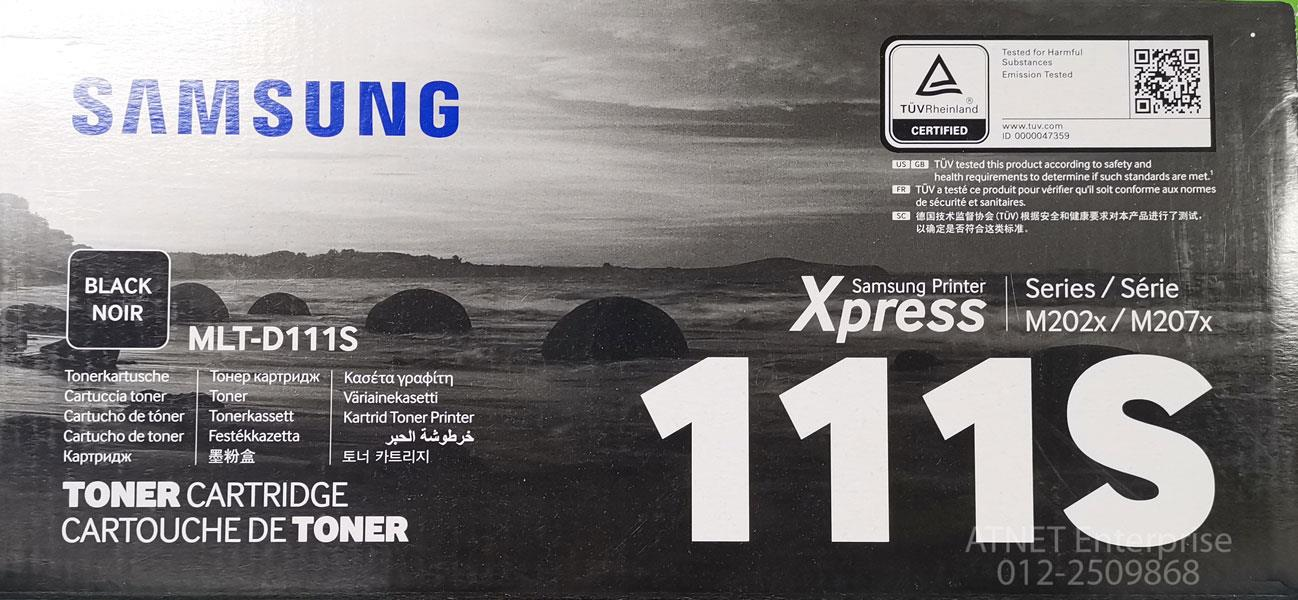 GENUINE SAMSUNG TONER CARTRIDGE MLT-D111S M202X / M207X BLK