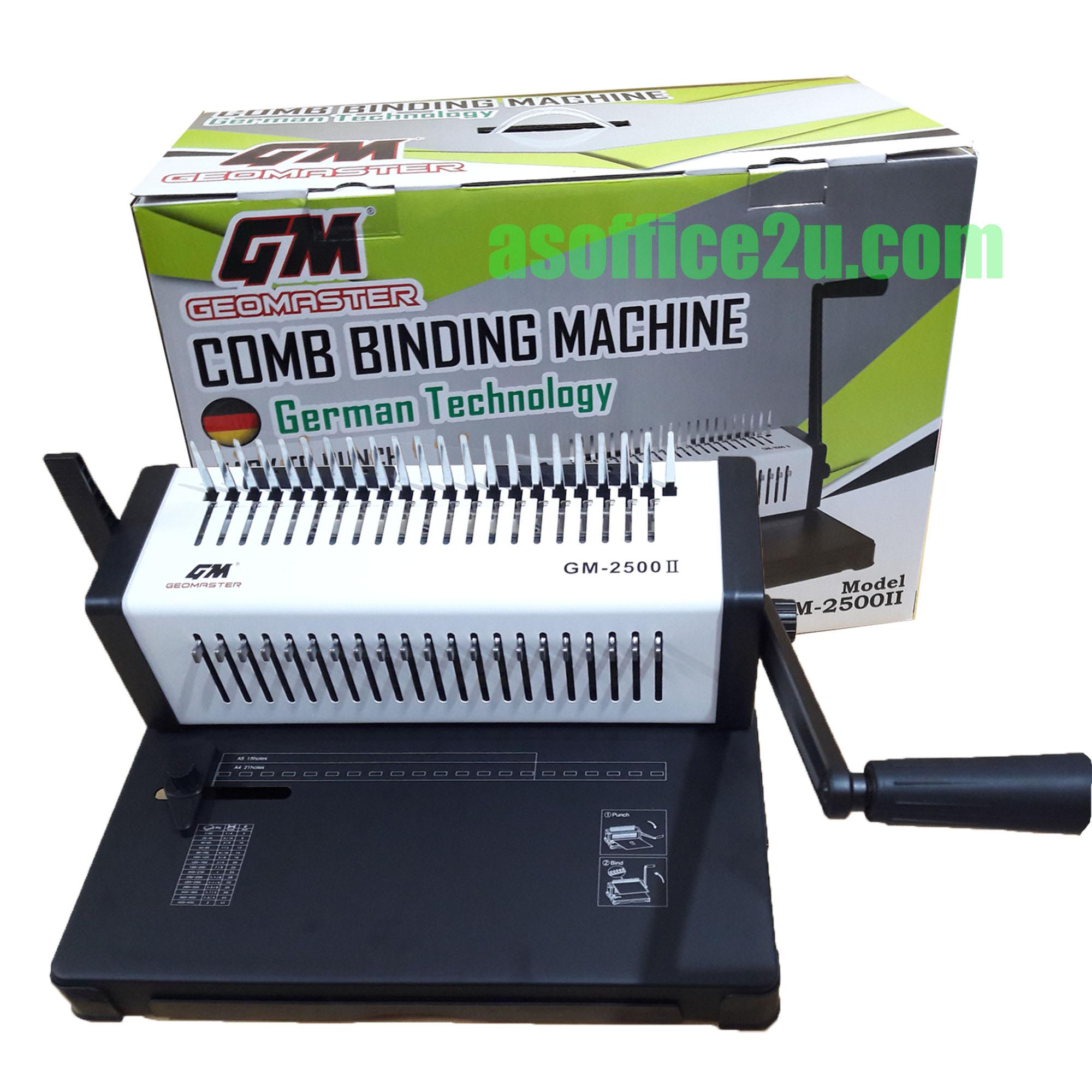 GEOMASTER GM-2500 COMB BINDING MACHINE II