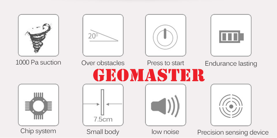 GEOMASTER SMART HOME EASY ROBOT CLEANER -MALAYSIA