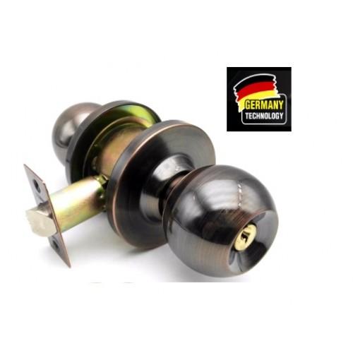 GERMANY HEAVY DUTY CYLINDRICAL LOCK/ DOOR LOCK ANTIQUE COPPER 60MM