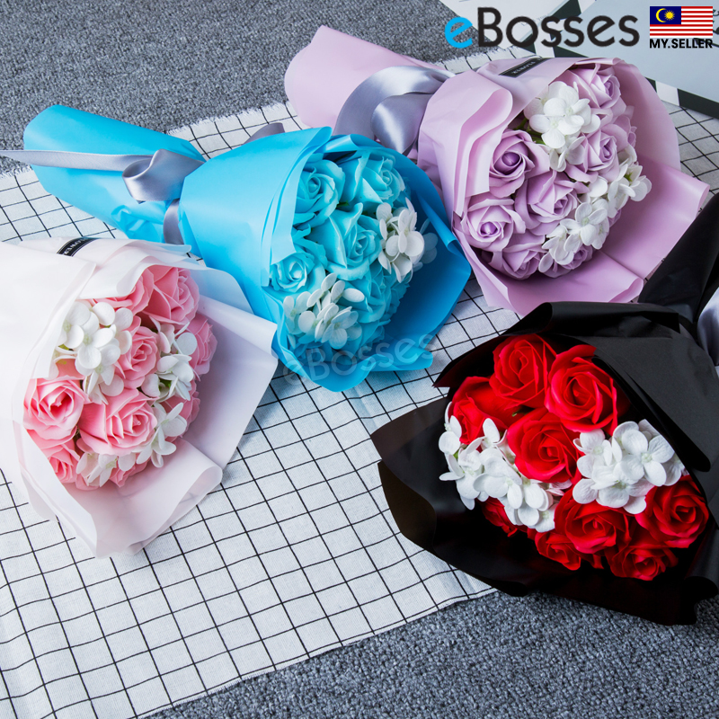 Gift Rose Hand Bouquet Soap Flower G (end 6/28/2020 5:22 PM)